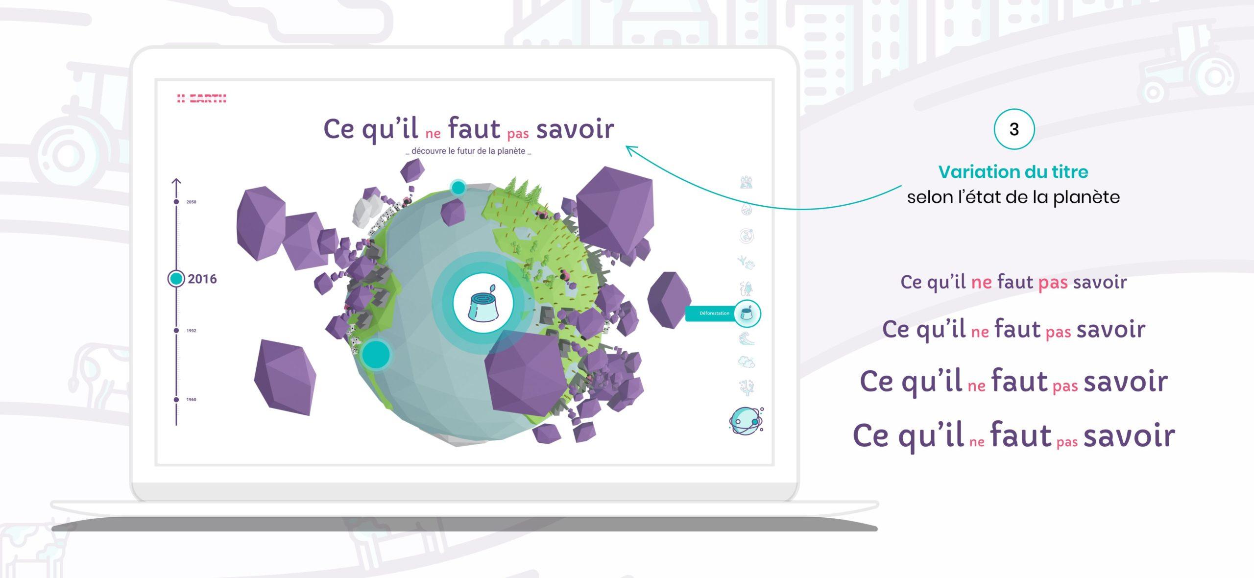CandiceH Projet H-earth UX-UI-Design ; Vulgarisation Réchauffement Climatique Design02