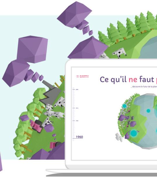 """Candice H. Projet H-earth : UX-UI Design vulagrisant le réchauffement climatique au travers d'un design sur """"Ce qu'il ne faut pas savoir"""""""