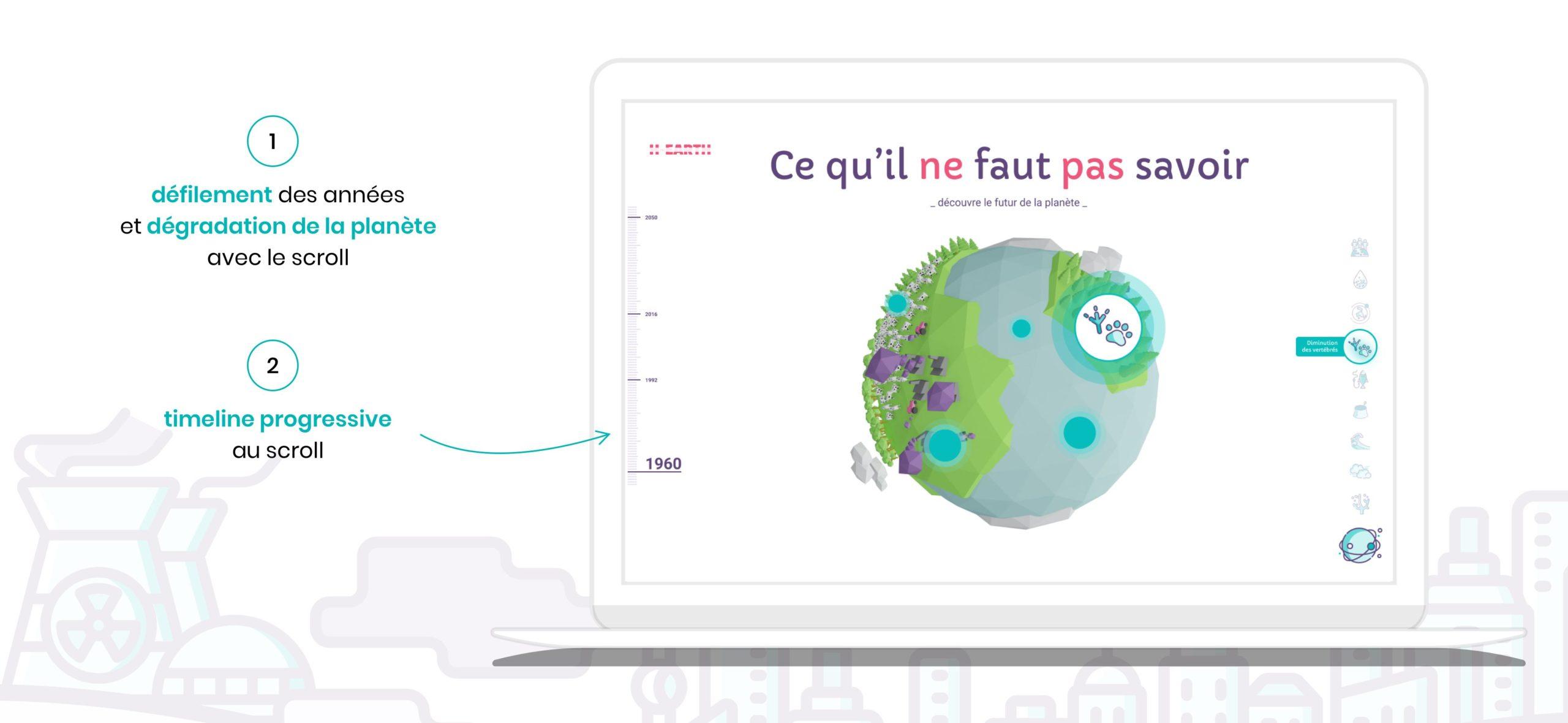 CandiceH Projet H-earth UX-UI-Design ; Vulgarisation Réchauffement Climatique Design01